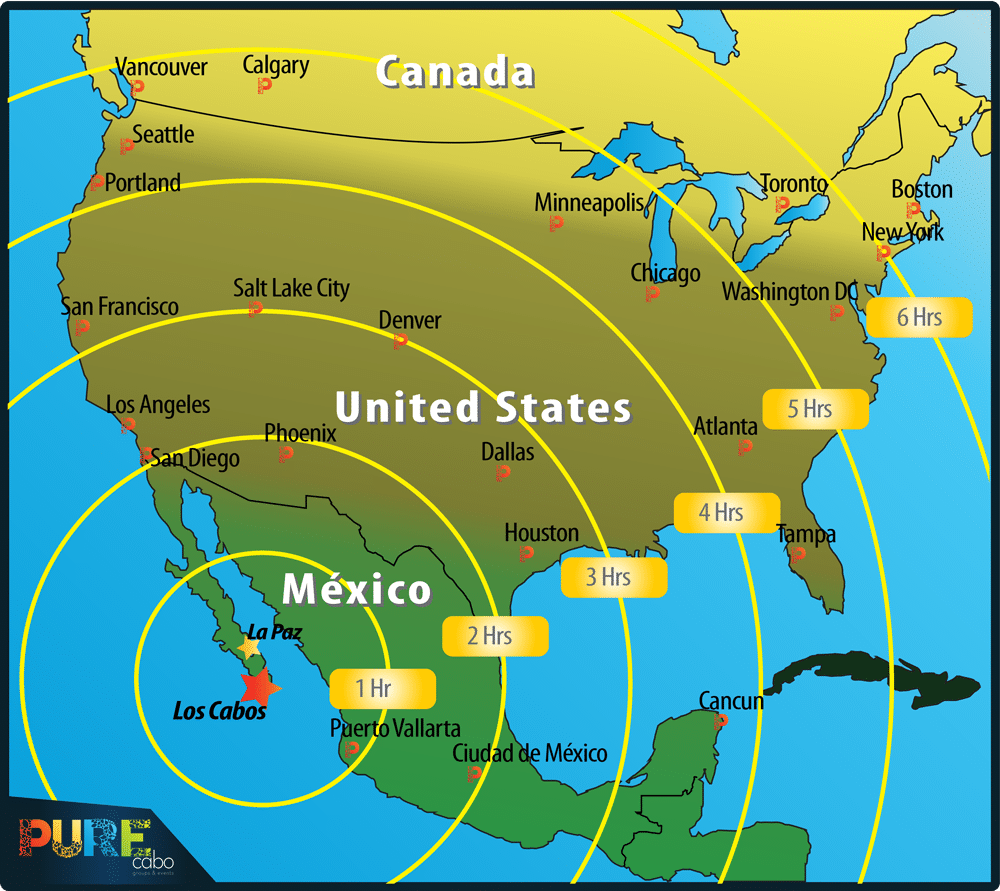 About Cabo San Lucas Distance Travel Map