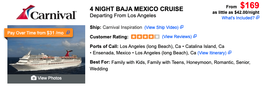 Cabo Cruise Ship Schedule