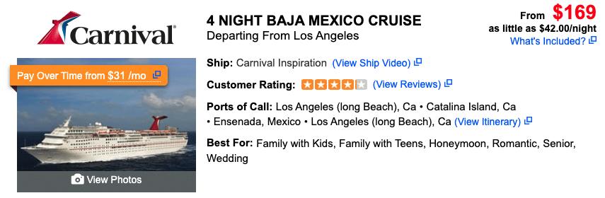 Cabo Cruise Ship Schedule
