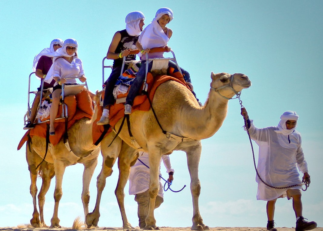Family Vacation Camel Ride in Cabo