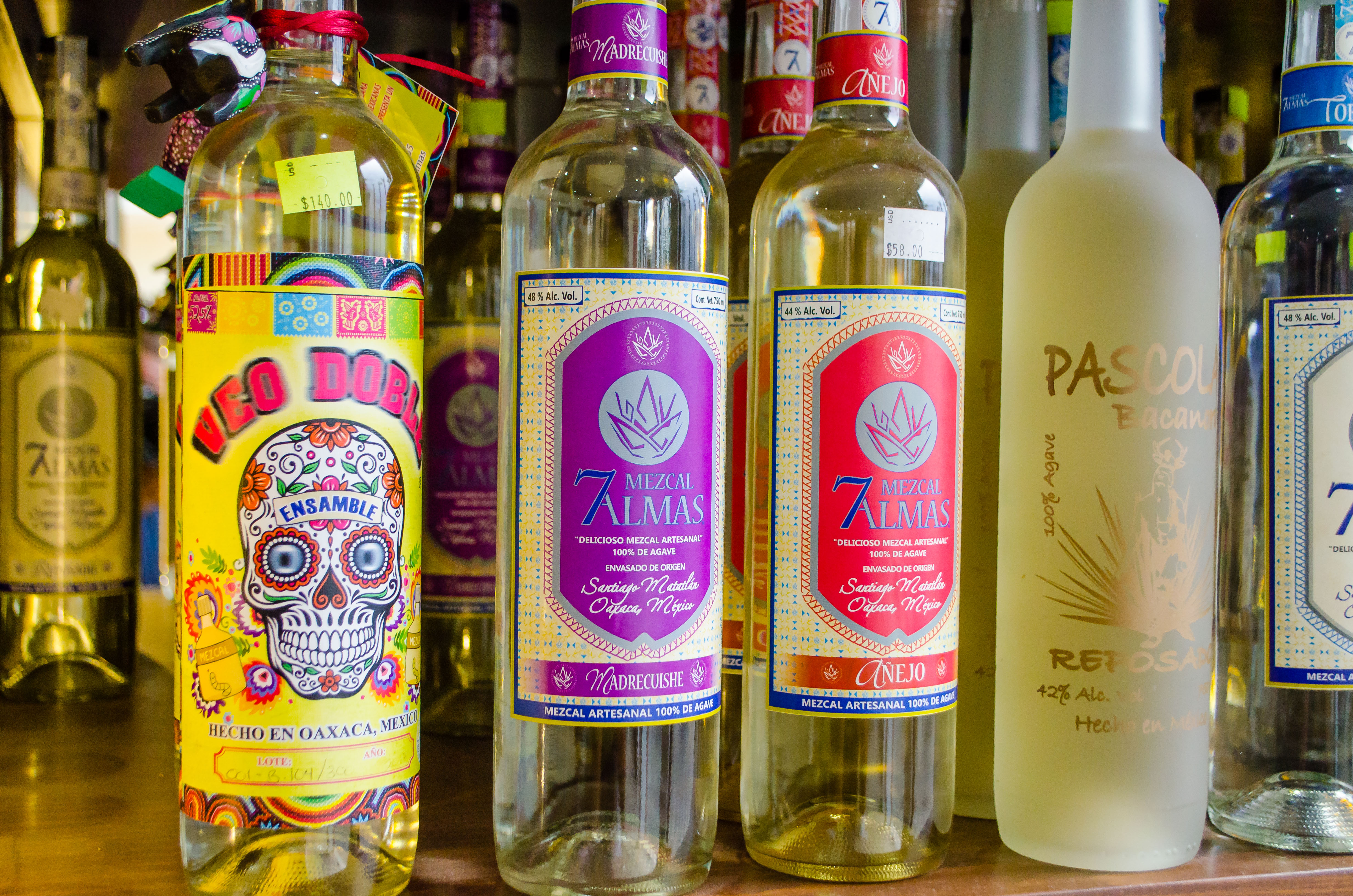 Private tequila tasting samples